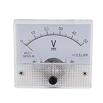 Robluee - Tensiómetro analógico 85 C1 DC de plástico, Panel de 5 V 10 V
