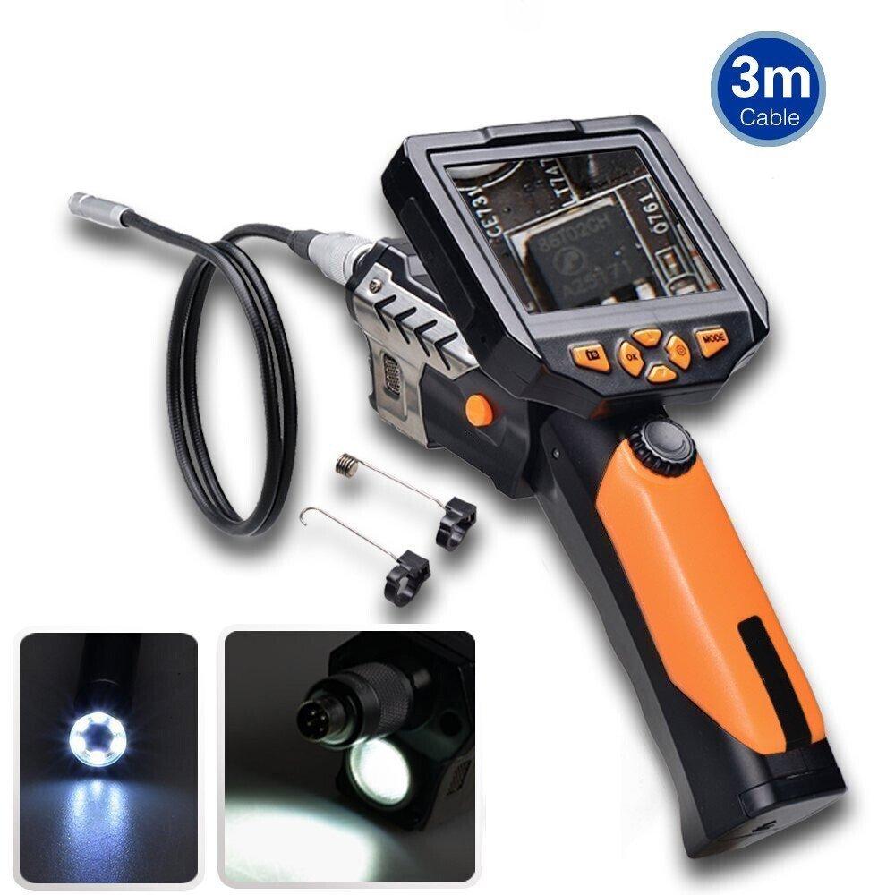 Trofou NTS200 Endoscope Caméra D'inspection Etanche HD 720P 3.5 Inch Numerique LCD Moniteur 8.2mm Diameter Avec 360° Rotation d'image (1M Câble)