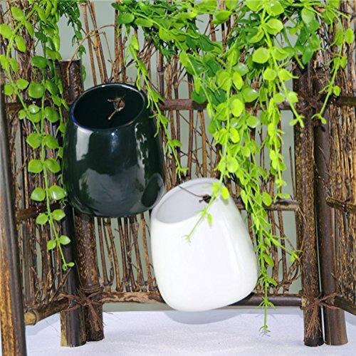 Temall Modern Decorative Small White/Black Round Ceramic ...