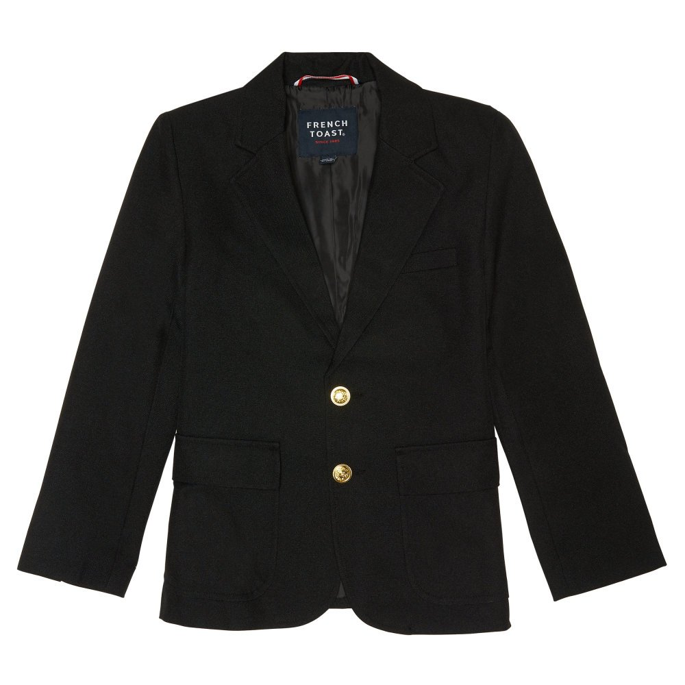 French Toast Little Boys' School Blazer, Black, 6 by French Toast