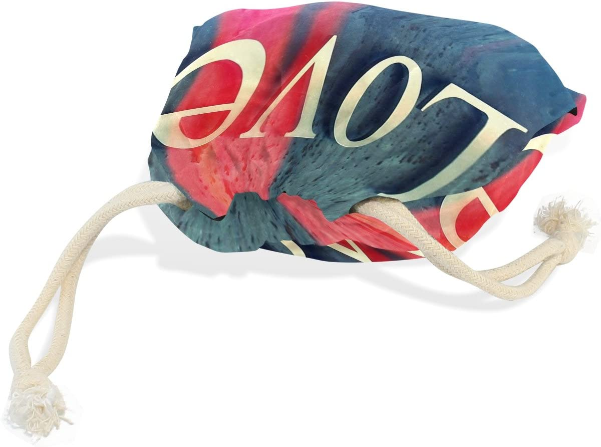 LEISISI Love Durable drawstring tote bags