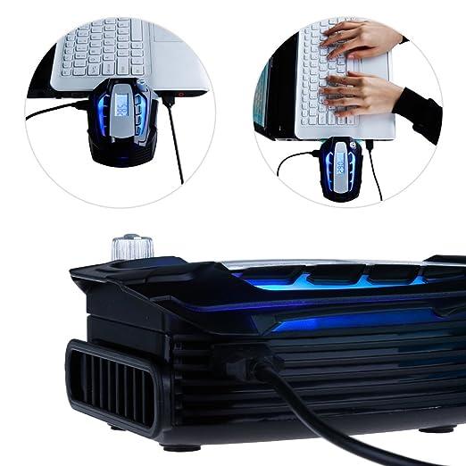 Zacro Ventilador PC Portátil Ventilador de ordenador portátil extractor de aire USB para Refrigeración immédiat con indicador de la temperatura y de sellos ...
