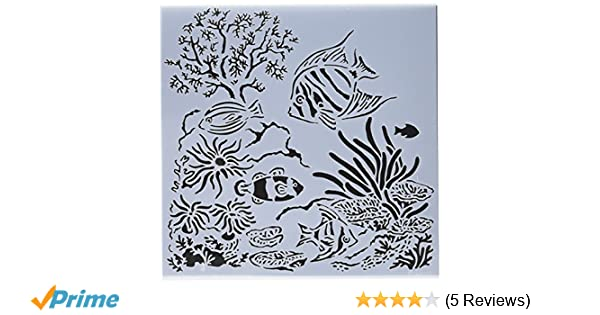 6 X 6 Crafters Workshop TCW611S Template White Aquarium