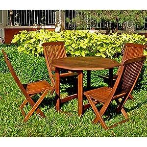 International Caravan VF-4130-IC Furniture Piece Acacia Stow Away Dining Set