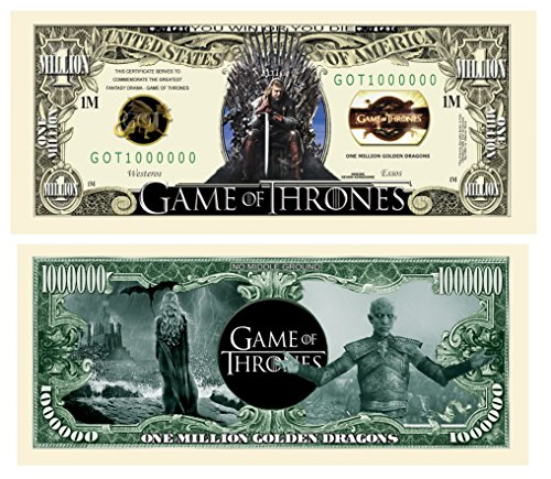 Limited Edition Game Of Thrones | GOT | Collectible Novelty Bill in Currency Holder