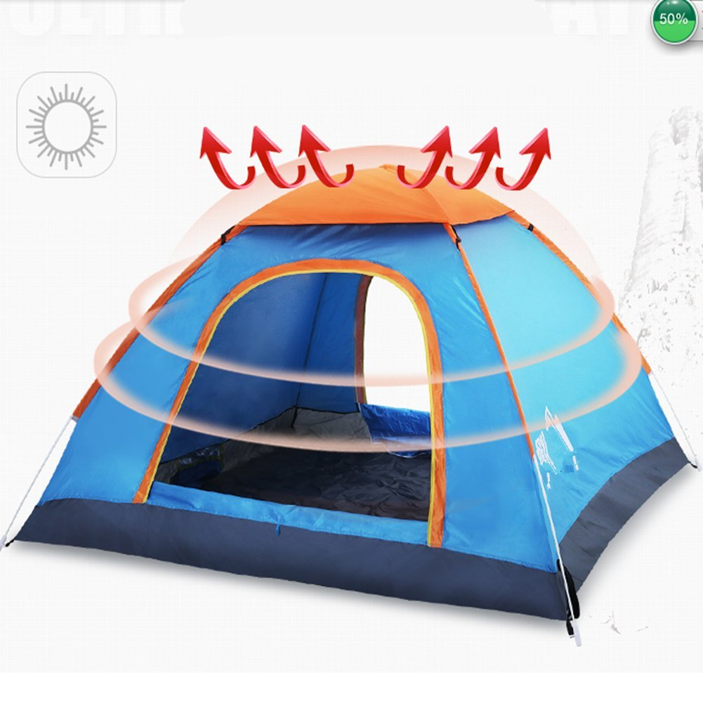 Outdoor-Zelt Outdoor 3-4 Vollautomatisch Zwei Zimmer Und Ein Wohnzimmer Zwei Personen Automatische Familie Camping Single Double Camping