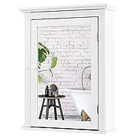 Tangkula Bathroom Cabinet, Mirrored Wall-Mounted Storage Medicine Cabinet, Cabinet...