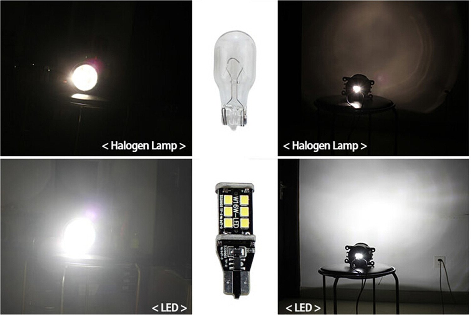 Set of 2 Alla Lighting Super Bright T10 194 LED Bulb High Power 3014 18-SMD 12V LED 194 168 2825 175 W5W Bulb Wedge for License Plate Interior Map Dome Trunk Cargo Side Marker Light Amber Yellow