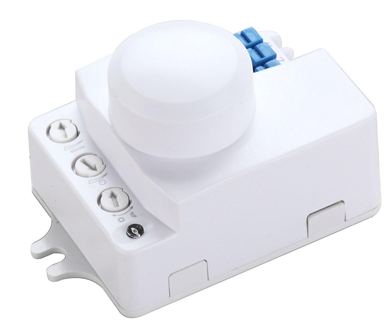 /ángulo de detecci/ón de 360 /° Detector de movimiento HF Interruptor de control de luz autom/ático sensor de ocupaci/ón ZEYUN Interruptor de sensor de movimiento de microondas