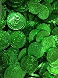 Solid Gourmet Milk Chocolate Large Gold Coins - Green Gold Silver and Pink / Purple - 2 Full Pounds Bulk Wholesale (Irish Emerald Green)