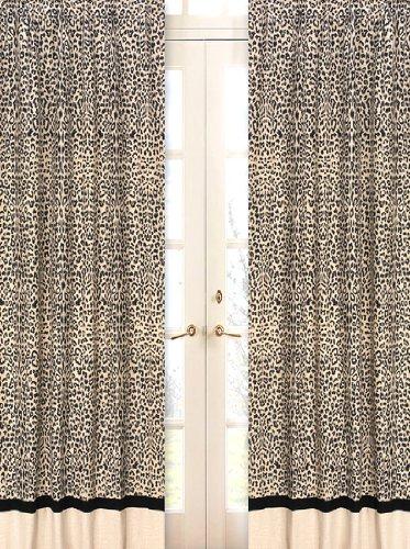 Animal Safari Window Treatment Panels - Set of (Animal Safari Window Panels)