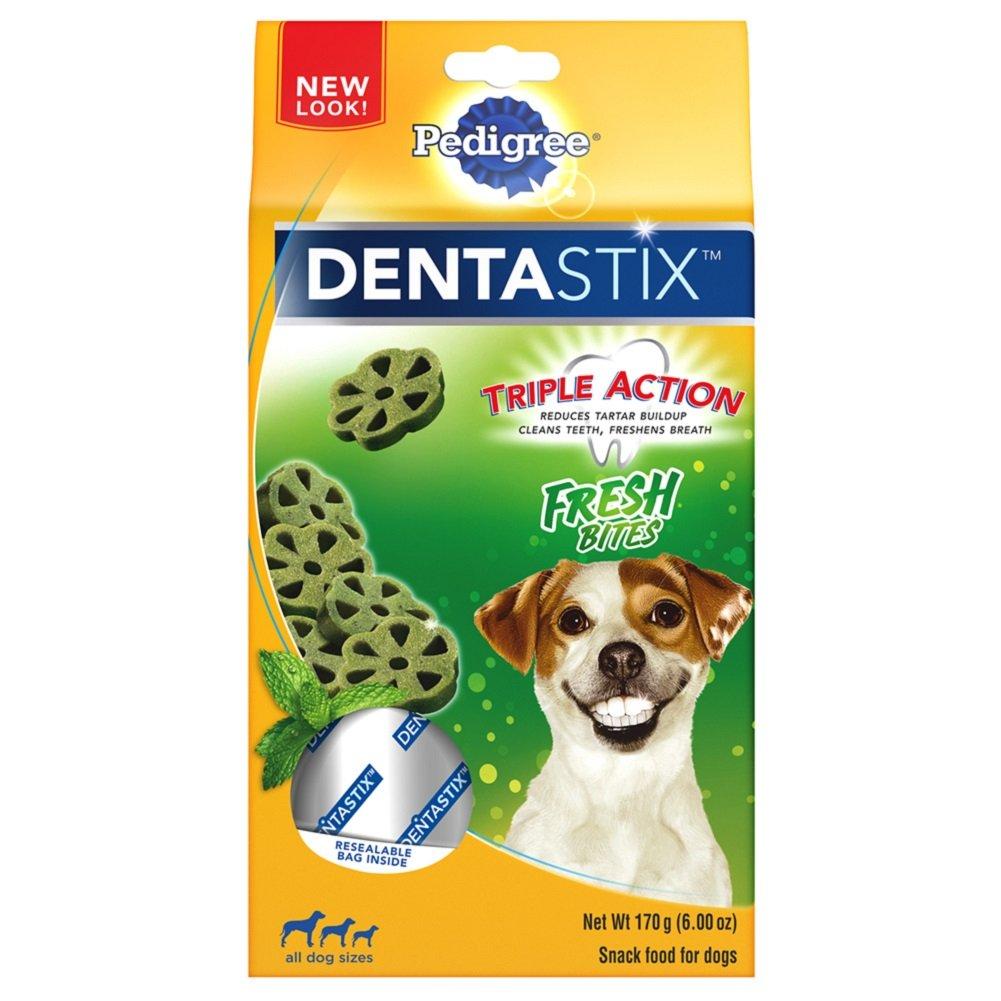 PEDIGREE DENTASTIX Fresh Bites Treats for Dogs - 6 Ounces, Pack of 7