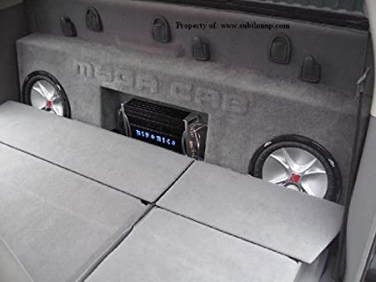 Amazon Com 2006 2011 Dodge Ram Mega Cab Dual 12 Subwoofer Box With