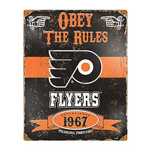 - Party Animal NHL Embossed Metal Vintage Philadelphia Flyers Sign