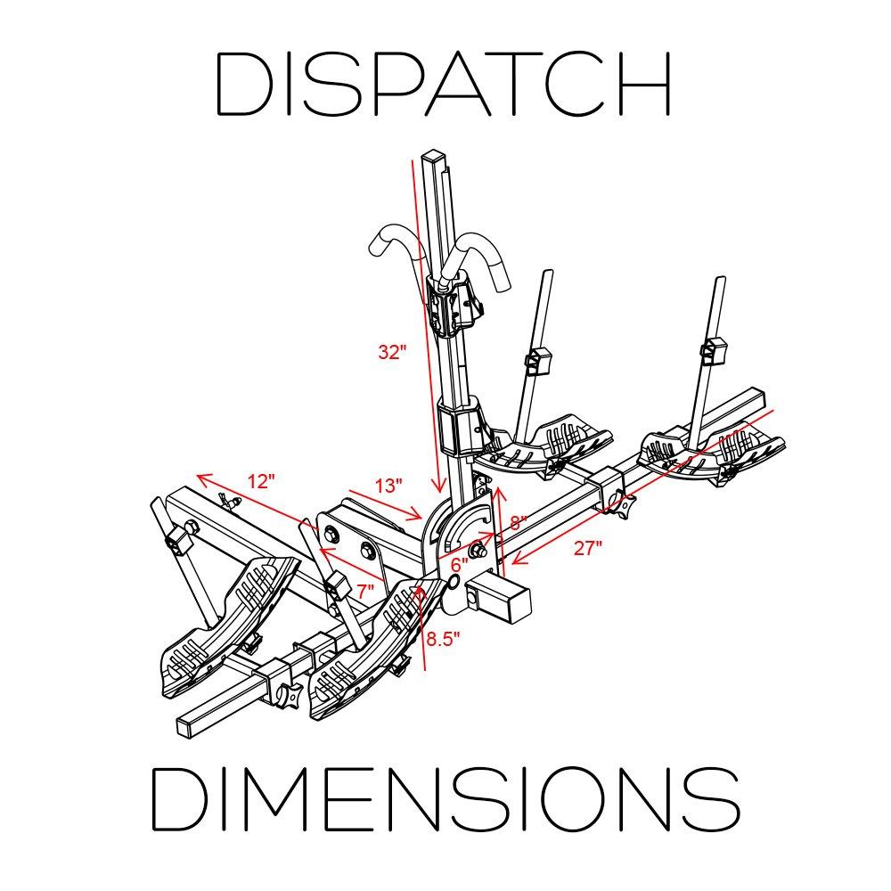Swagman RV Approved Dispatch Hitch Bike Rack 64684