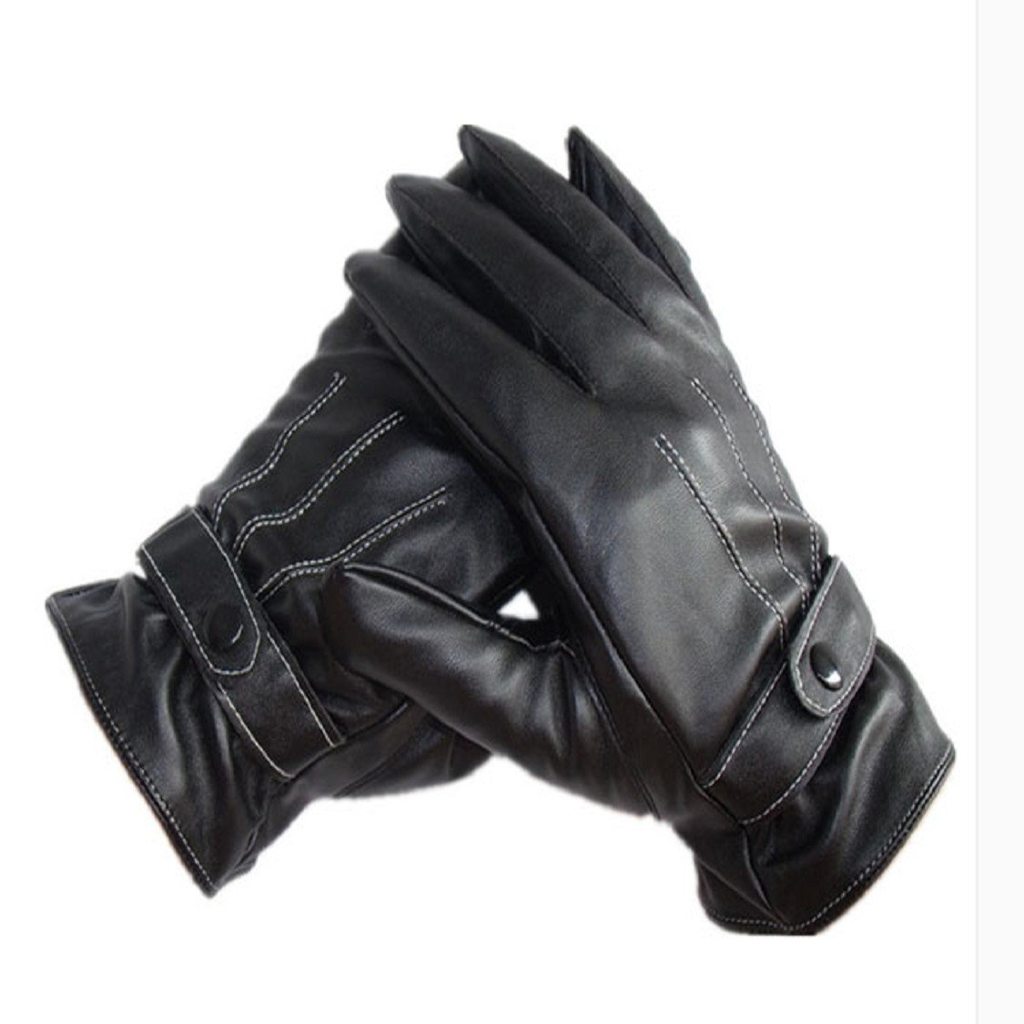 Mens leather gloves size 2x - Amazon Com Ikevan Mens Luxurious Pu Leather Gloves Outdoor Driving Warm Gloves Cashmere Mittens Autumn Winter Black Baby