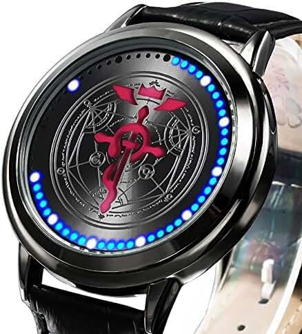 Wildforlife Anime Fullmetal Alchemist: Brotherhood Flamel Cross Collector's Edition Touch LED Watch