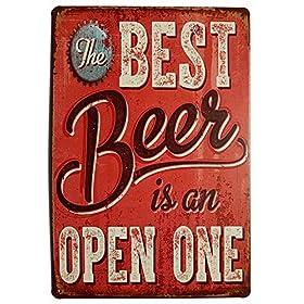 ERLOOD Best Beer Vintage Funny Home Decor Tin Sign...