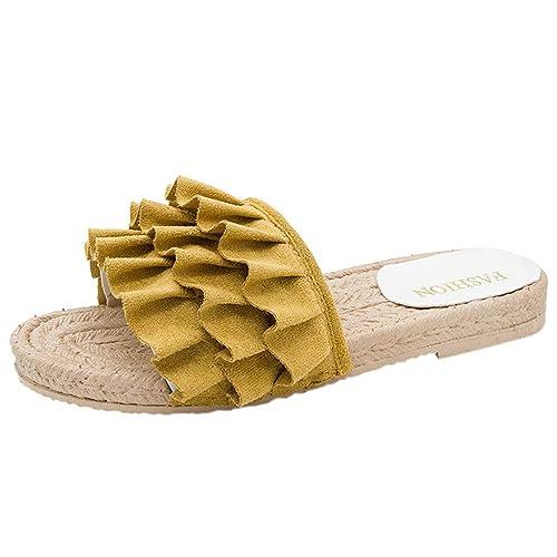 Damas de Mujer Moda Estilo Bohemio Mocasines Casual Zapatillas Planas Sandalias: Amazon.es: Zapatos y complementos