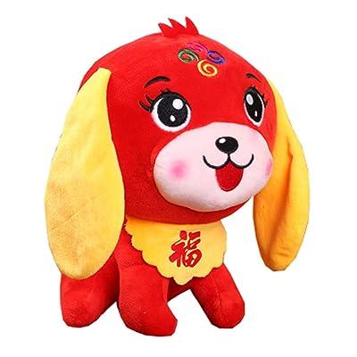 Année de la poupée de mascotte de chien jouet en peluche de chiot de poupée de jouet, C