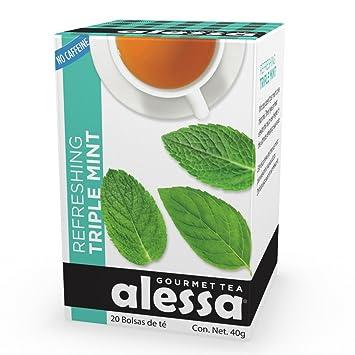 Amazon.com : Alessa - Refreshing Triple Mint Gourmet Tea ...