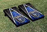 San Jose Earthquakes MLS Soccer Regulation Cornhole Game Set Weathered Triangle Version