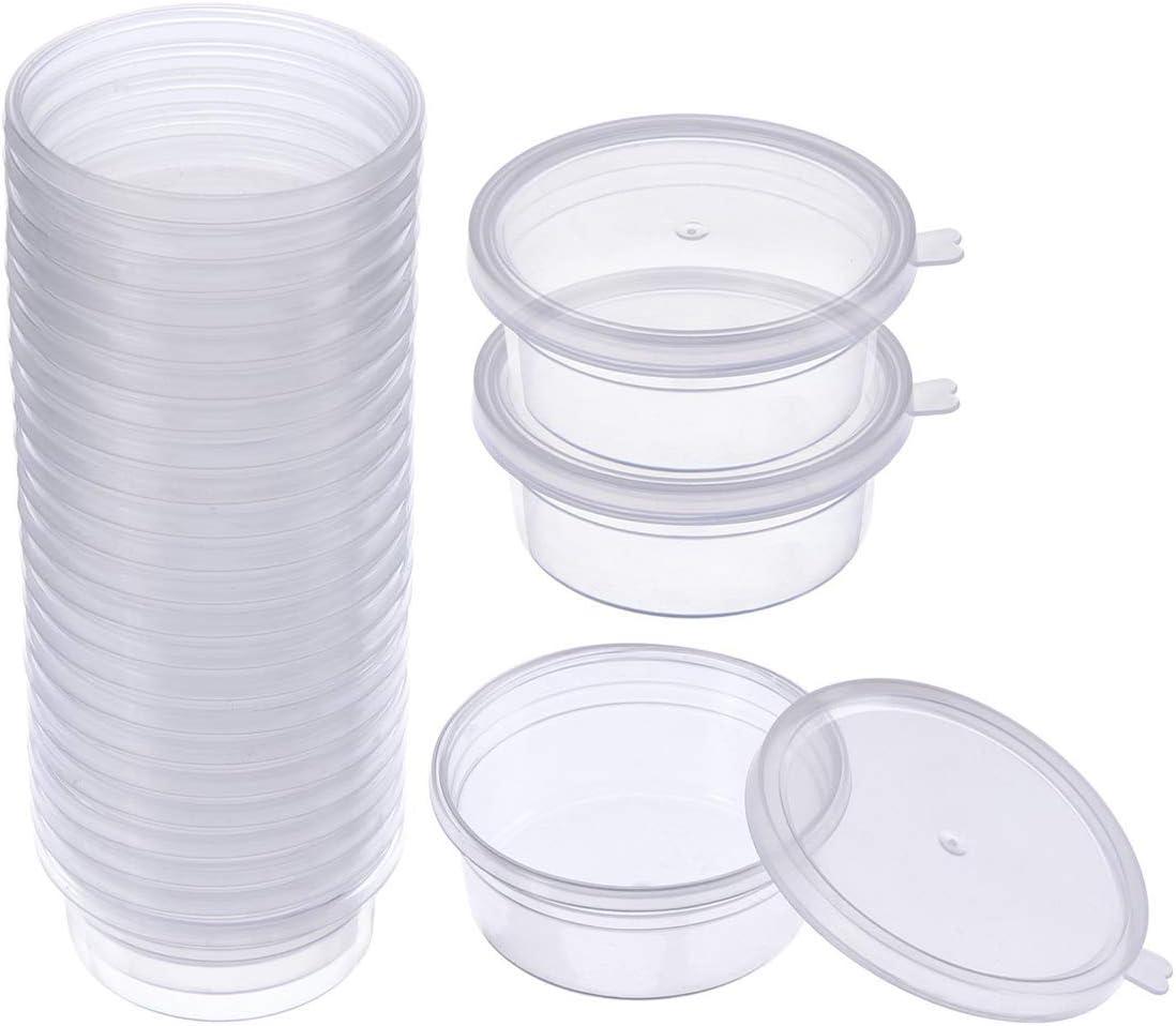 SWZY Slime Containers Box 24Pcs con tapas para pegamento/agua/cosmética/plastilina