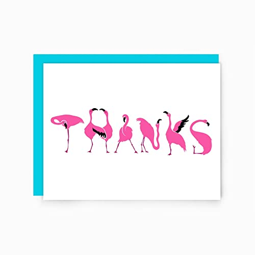 Ideal Amazon.com: Thanks Flamingos - Flamingo Thank You Card: Handmade MN12
