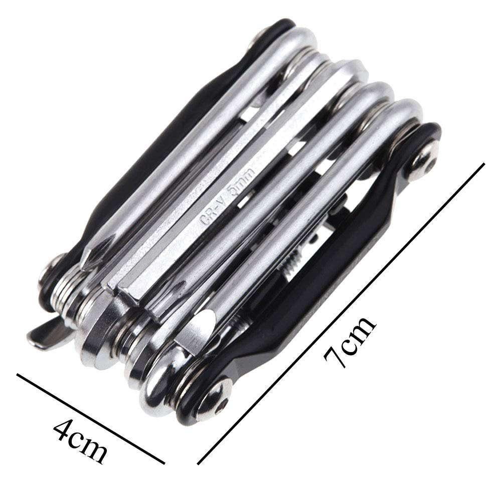 11 in 1 Bicycle Tools Sets Bike Multi Repair Kit Hex Spoke Wrench Screwdriver Carbon Steel Multifunctional Folding Multitools11 in 1 Bicycle Tools Sets Bike Multi Repair Kit Hex Spoke Wrench