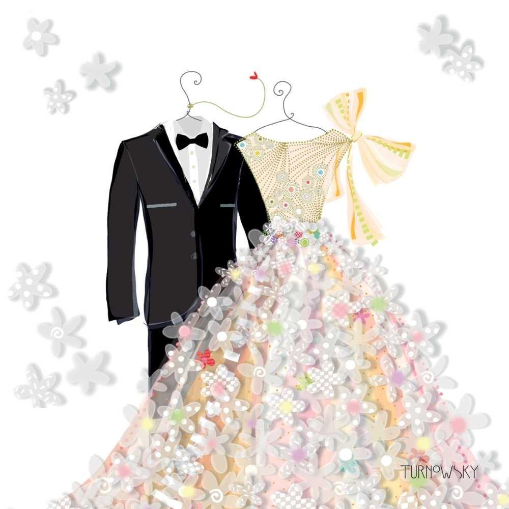 Paperproducts Design 1252427 Bride /& Groom Beverage Paper Napkin Multi
