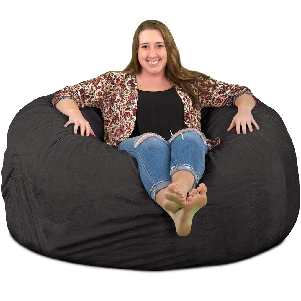 ULTIMATE SACK Bean Bag Chairs in Multiple Sizes and Colors: Giant Foam-Filled Furniture - Machine Washable Covers, Double Stitched Seams, Durable Inner Liner. (5000, Grey Suede) by ULTIMATE SACK