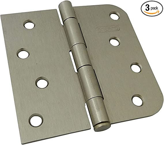 """Cabinet Hardware Butt Hinges 33550 Bright Nickel 3/"""" x 2-3//4/"""""""