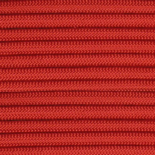 50' 550 Lb Type (50' Red 550 Paracord / Parachute Cord, Type III, 7 Strand, 5/32 (4mm) Diameter, 550LB Breaking Strength, 550Cord Survival Cordage W/ Spool & Buckle Options)
