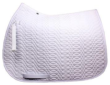 Merauno Saddle Cloth Numnah Cotton Quilted Horse Saddle Pad Cloth Horse Riding Soft VSS White