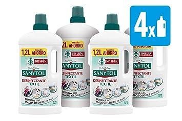 Sanytol - Desinfectante para Ropa sin Lejía - [Pack de 4 x1200ml ...
