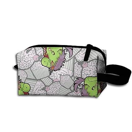 NHN556 Zombie Unicornio y CEANake bolsa de cosméticos, neceser de aseo, neceser de viaje