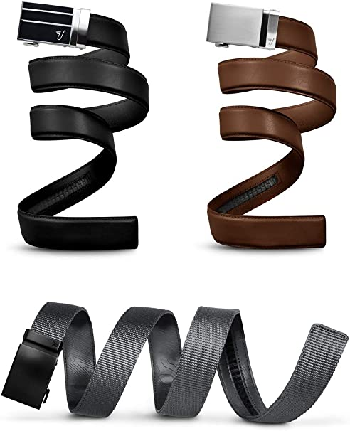 Choose Color and Style Mission Belt Leather and Nylon Belt Straps 40 mm