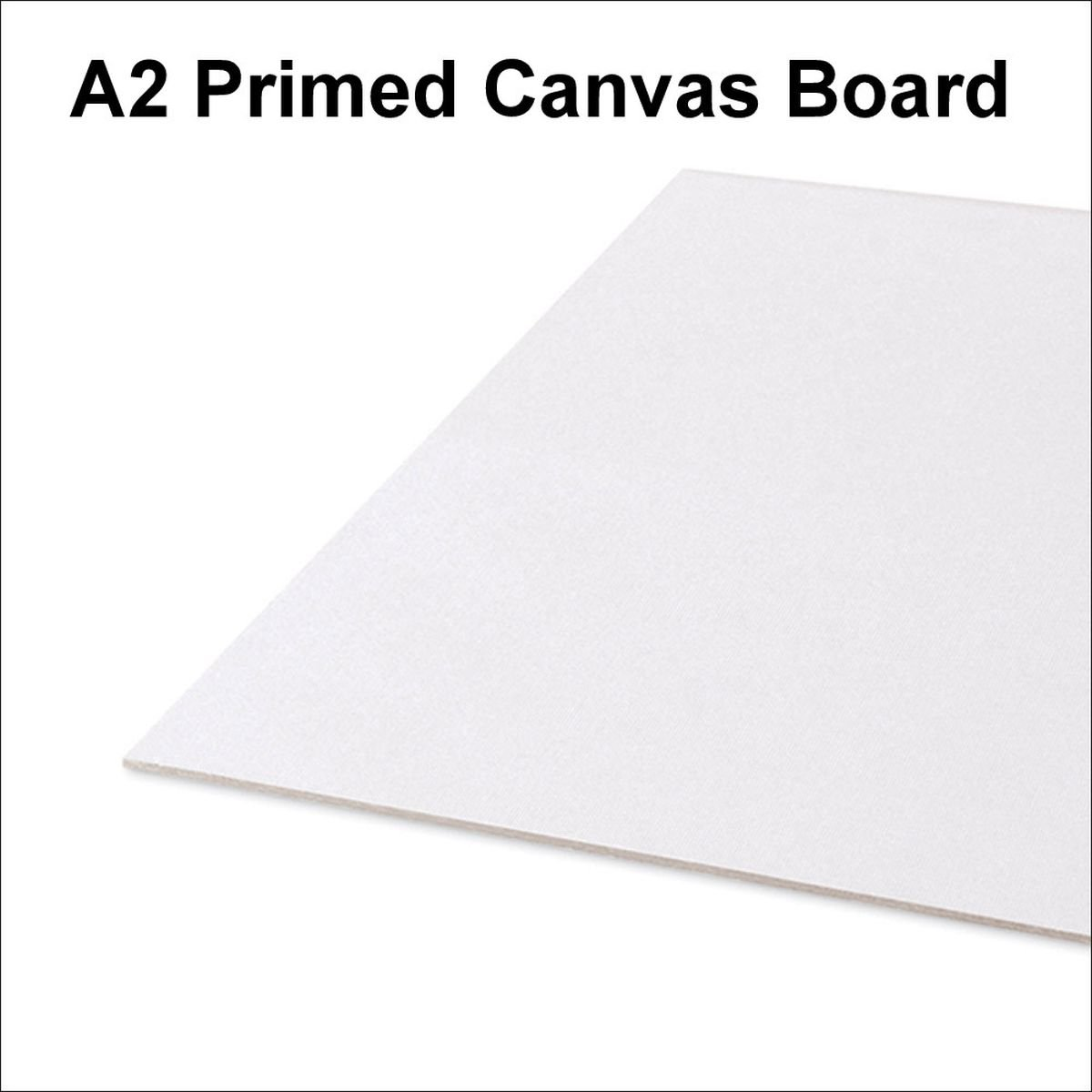 A2 Artist 100% Cotton Canvas Boards Primed Panels Gesso For Acrylic Oil Painting 420 x 594mm (Pack Of 10) Seawhite
