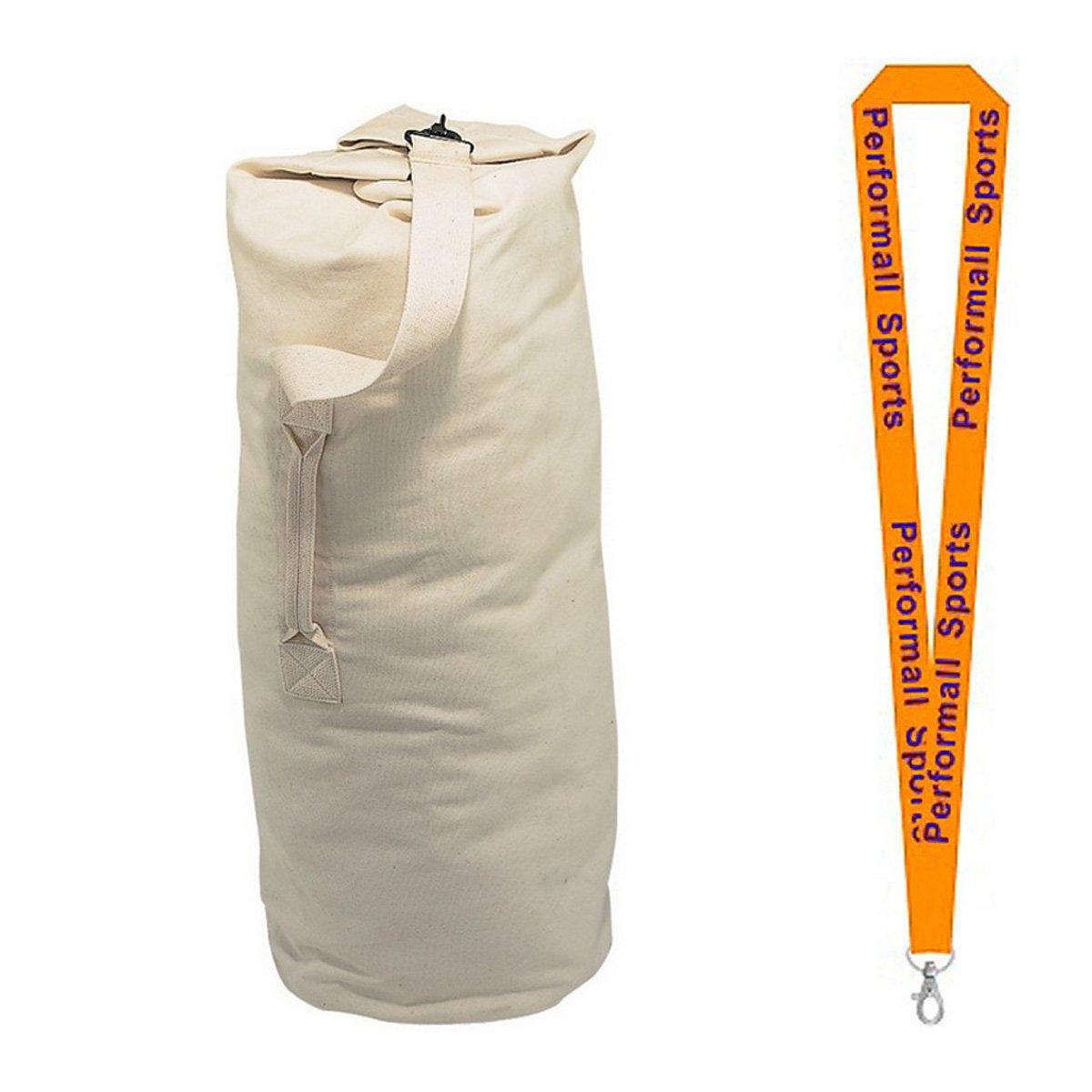 チャンピオンスポーツArmy Duffle Bag 12オンスアソート色とサイズで1 performall Lanyard B01FSZ6K0K  ベージュ 12oz