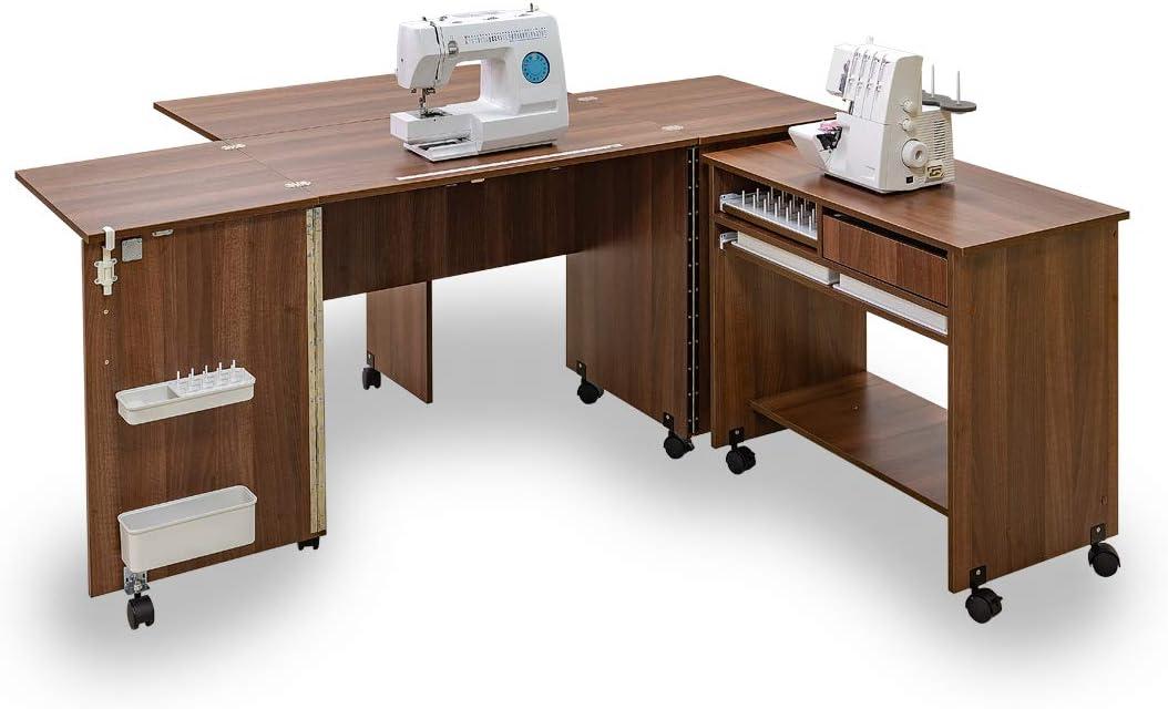 Comfort 7+   Muebles para máquinas de coser y overlock   (Beech Ellmau): Amazon.es: Hogar