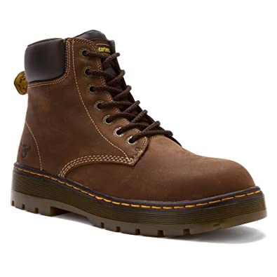 Dr Martens Mens Winch 7eye Laceup Steeltoe Dark Brown