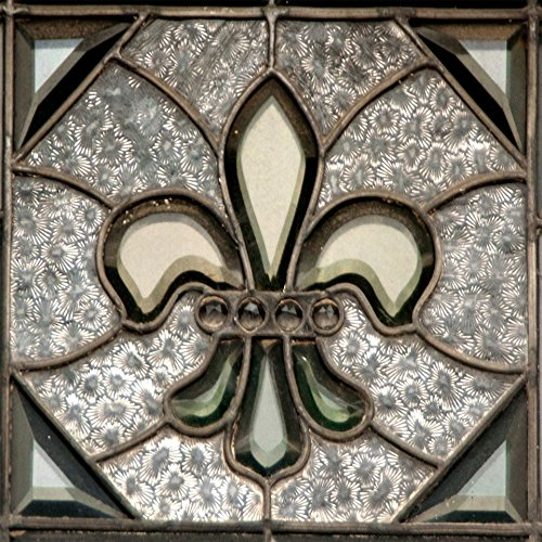 New Orleans Saints Stained Glass - Wood Wall Art Photography - Fleur de Lis: Stained Glass 11