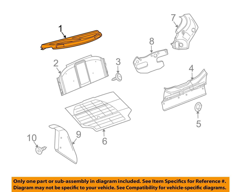 Volkswagen VW OEM Beetle Interior-Rear Body-Package Tray Trim 1Y0863413DB41