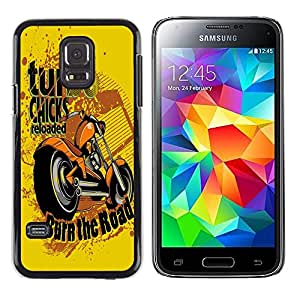 Dragon Case - FOR Samsung Galaxy S5 Mini, SM-G800 - Love makes man sink down - Caja protectora de pl??stico duro de la cubierta Dise?¡Ào Slim Fit
