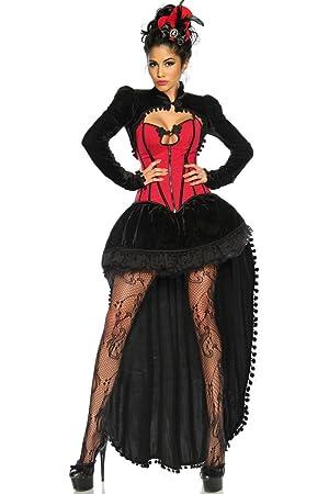 Elegante traje de Burlesque para Mujer negro/rojo - Negro/Rojo ...