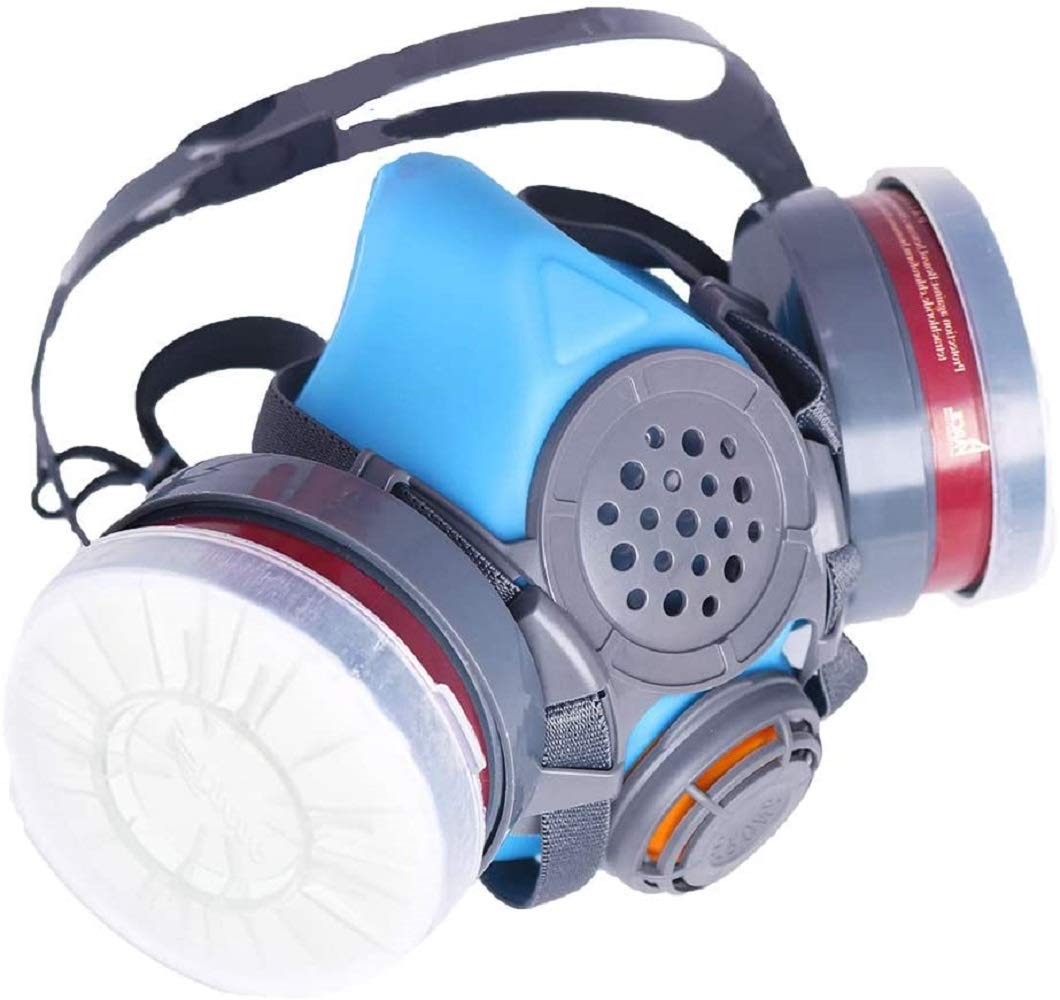 PT-60 Half Face Organic Vapor Respirator - ASTM Tested - 1 Year Warranty - P-A-1 Filters