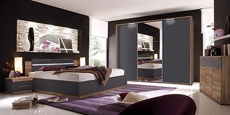SONDERPREIS * Dandy Schlafzimmer Set Komplettset Set Nussbaum ...