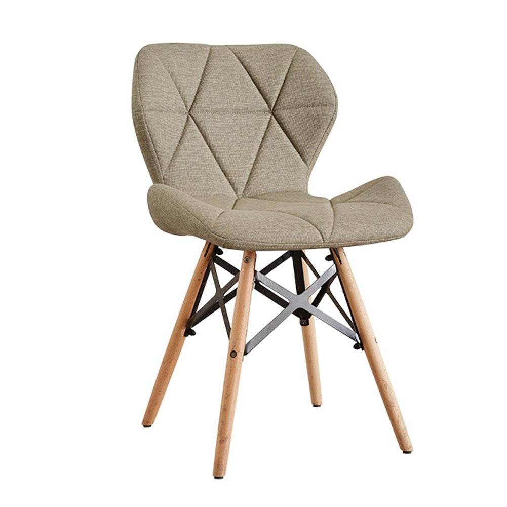 1 WGXX Chairs 0717 Solid Wood Modern Minimalist Thickening PU Material Can Be Assembled Comfort Cushions Multifunctional Wooden Chair (color   05)