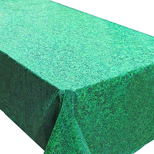 Blue Orchards Grass Tablecovers (2), Minecraft Birthday Supplies, Luau and Summer Parties, Easter Events -