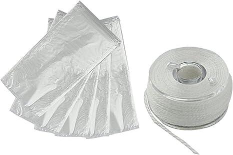 50 PCS Wasserl/ösliche Baits Bag PVA Bag Karpfenfutter-Beutel Non R/ückstand Schnell Aufl/ösende Lure Taschen